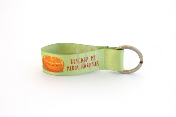 Llavero Mini media naranja / medio limón | Llaveros de tela Mini originales